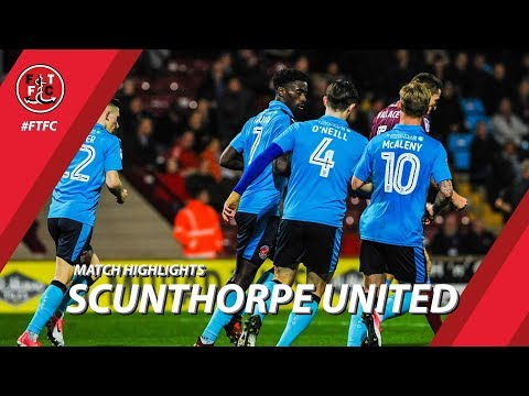 Scunthorpe United 1-1 Fleetwood Town - Highlights