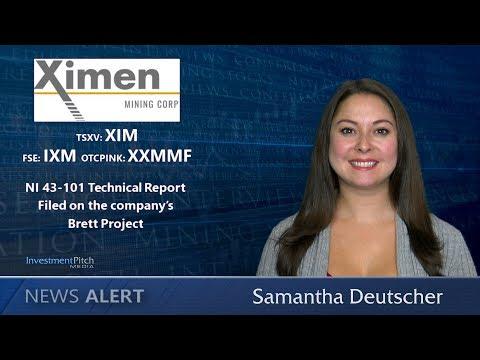 Ximen Mining (TSXV:XIM) Filed a NI 43-101 Technical Report on the company's Brett Project.