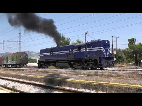 ALco A326 smoke and horn show at Tithorea/Greece