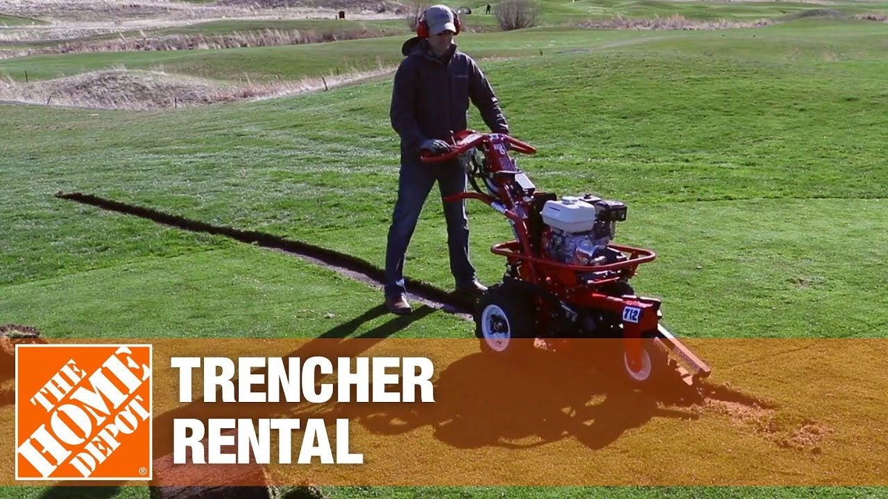 Trencher Rental The Home Depot Rental Youtube