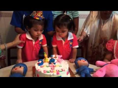 Pocoyo theme twin birthday