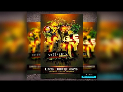 How To Make Flyers Photoshop CS6 PSD Event Logo CD Cover Graphic Design CC Adobe
