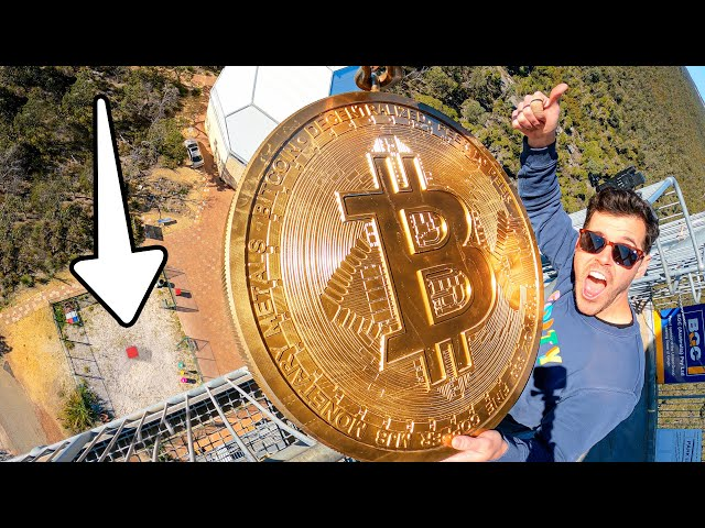 Giant 160kg Bitcoin Vs. Vending Machine from 45m!