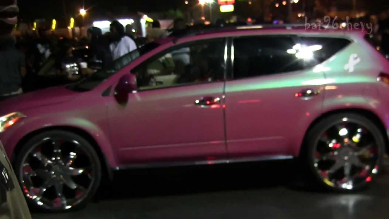 OUTRAGEOUS Pink Nissan Murano on 26's - 1080p HD - YouTube