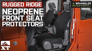 Jeep Wrangler Rugged Ridge Neoprene Front Seat Protectors (2007-2018 JK & JL) Review & Install