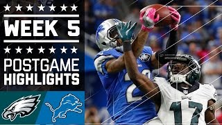 Eagles vs. Lions | NFL Week 5 Game Highlights