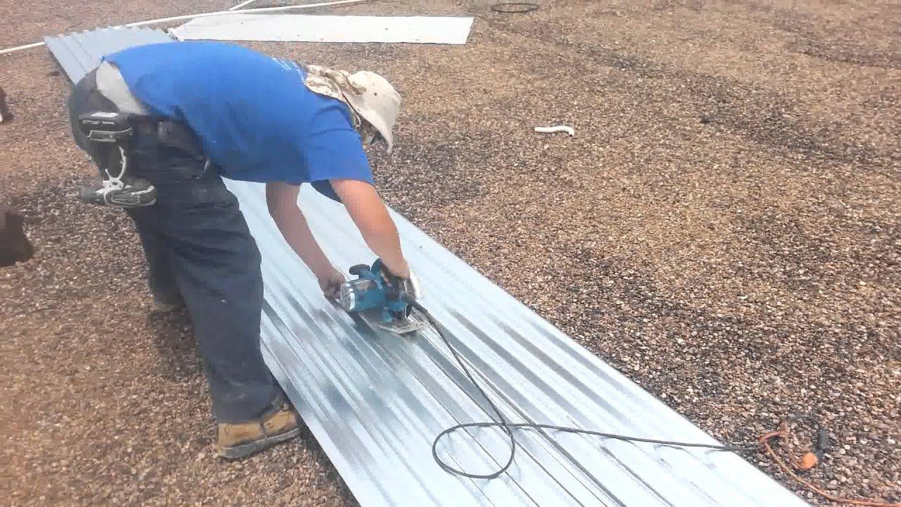 Cutting Galvanized Roof Panels Youtube