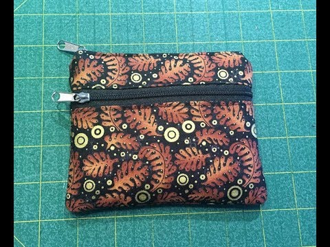 Double Zipper Pouch Tutorial