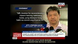 Kampo ni Janet Lim Napoles, iaapela ang hatol na guilty ng Sandiganbayan sa kaniyang kasong plunder