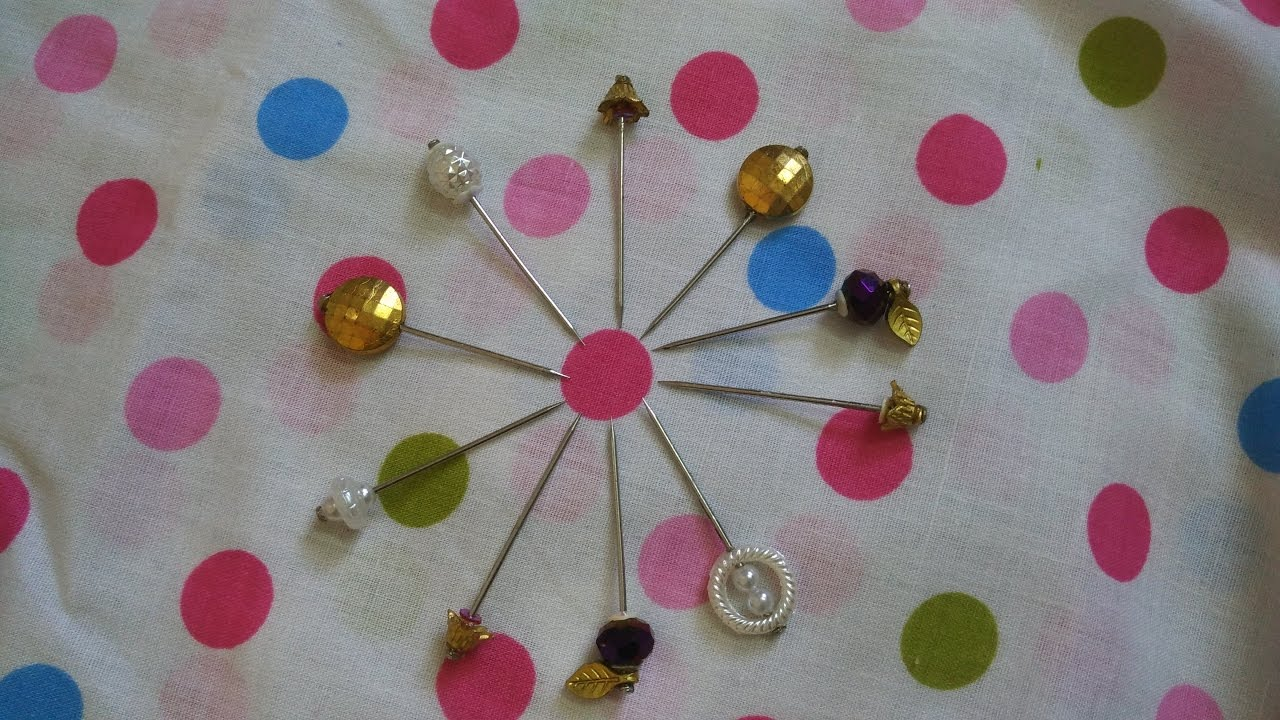 Diy How To Make Your Own Decorative Pins For Hijab And Scarf Youtube