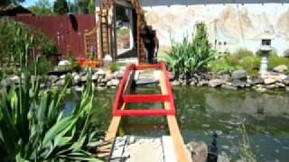 Famous Author Builds Backyard Bridge