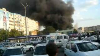 Пожар на Паркентском базаре в Ташкенте