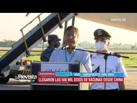 Luis Arce resaltó la llegada de vacunas Sinopharm a Bolivia