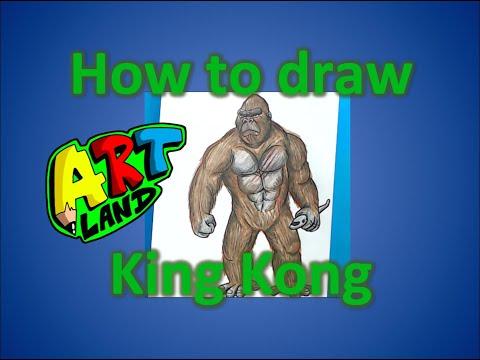 Как нарисовать кинконга
