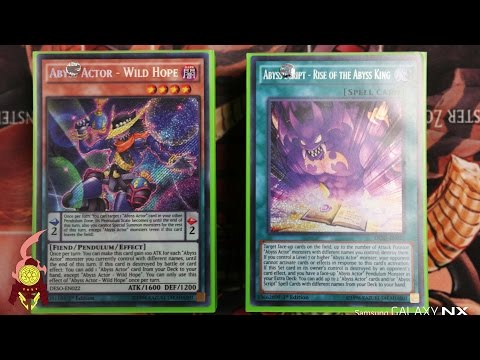 *YUGIOH* ABYSS ACTOR DECK PROFILE!! Ft. VIC! Post Destiny Soldiers! 2016! Version 1.