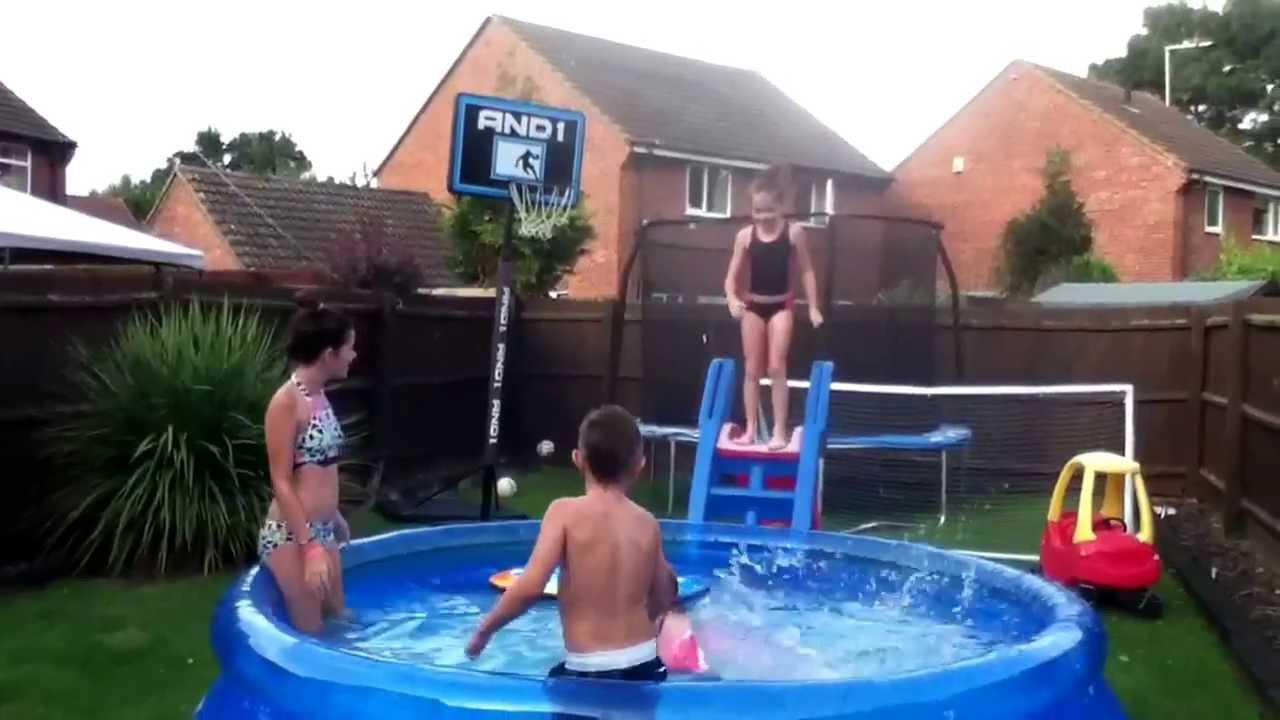 fun in a 10ft best way fast set pool youtube