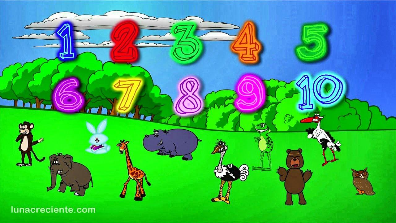 Números Para Niños En Español Aprender A Contar Del 1 Al 10 Con Los Animales Del Zoo Lunacreciente