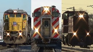 Metra rush hour at Franklin Park, epic action and tons of horn! -3/12/15