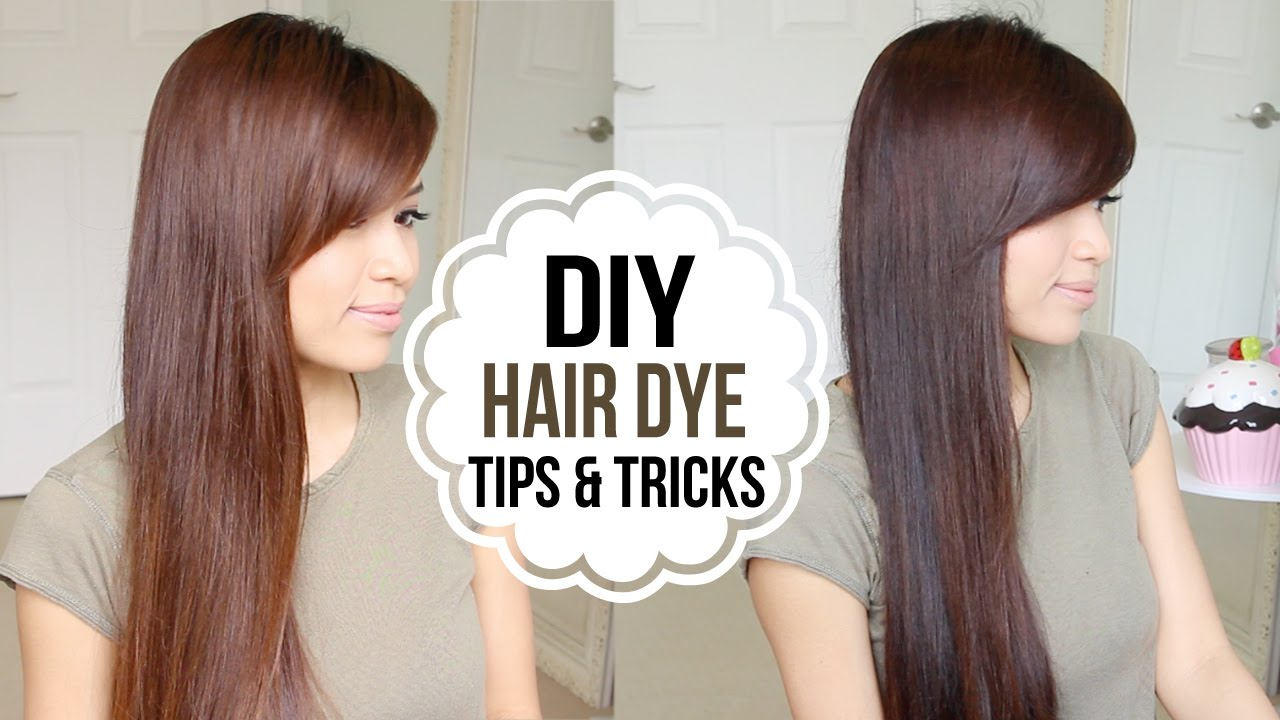 How To Dye Hair At Home Coloring Tips Tricks Youtube