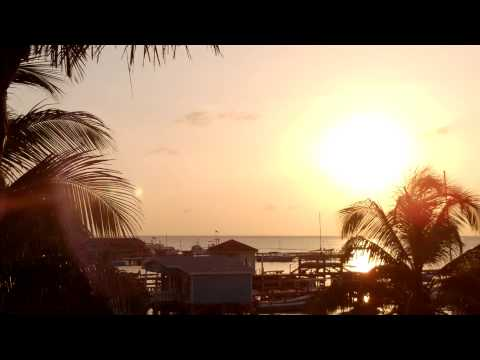 Sunrise from Gazebo at the Sunbreeze 5/4/13 San Pedro Ambergris Caye Belize