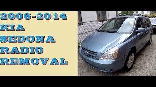How to remove Radio in 2006-2014 Kia sedona, aka Hyundai Entourage, aka Carnival