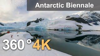 The first Antarctic Biennale, 360 4K video