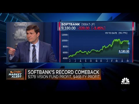 SoftBank's Vision Fund reports a record $37 billion in quarterly profit