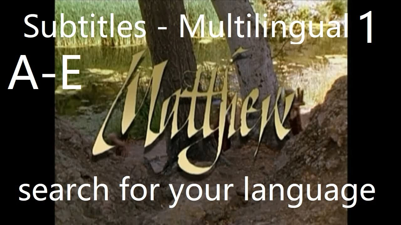 Download The gospel of Matthew   Multilingual Subtitles +450   Search for your language in the subtitles tool
