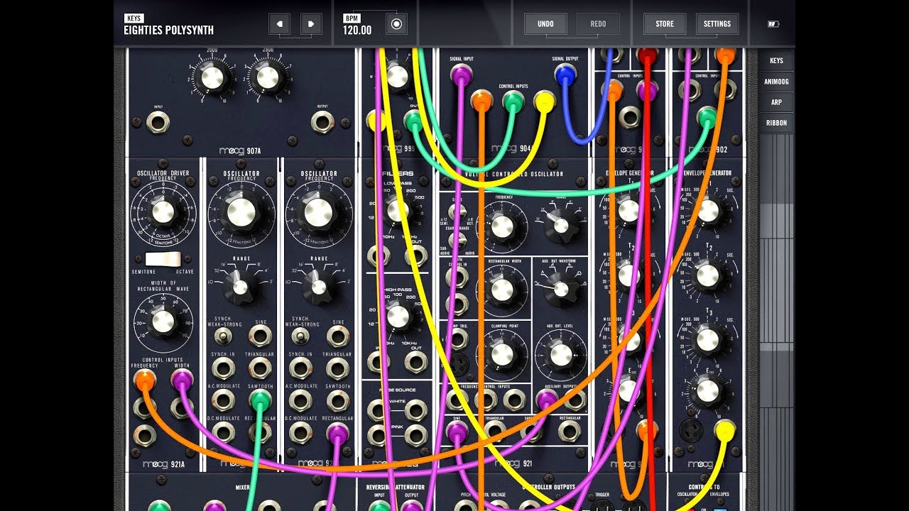 moog model 15 quick play demo for the ipad awesome modular synth youtube. Black Bedroom Furniture Sets. Home Design Ideas