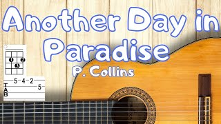 Another Day in Paradise - Easy Guitar Lesson - Phil Collins