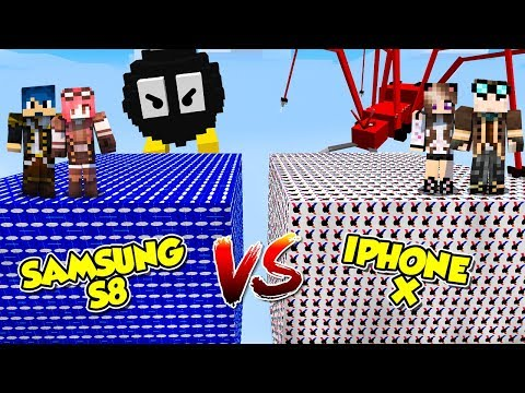 Minecraft ITA - Iphone X Vs Samsung S8 - Lucky Block - W/Lyon