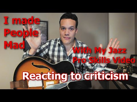 "Reading comments from my ""Pro Jazz Skills"" video and ranting about them!"