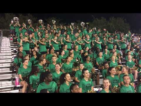 Fort Myers High School Greenwave Marching Band 08/26/2017 Clewiston Halftime Show Preview