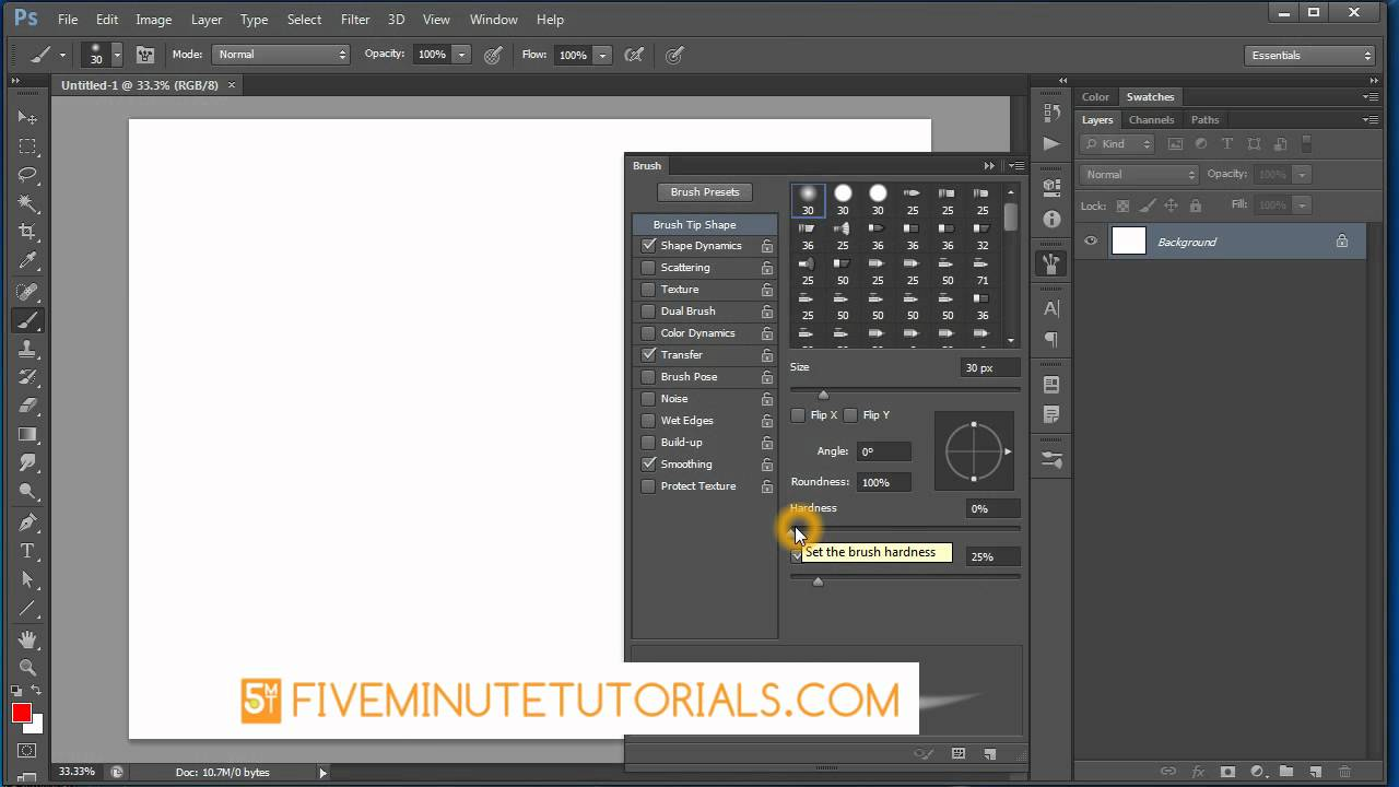 Adobe Photoshop CS6 Creating a custom sketch Brush - YouTube