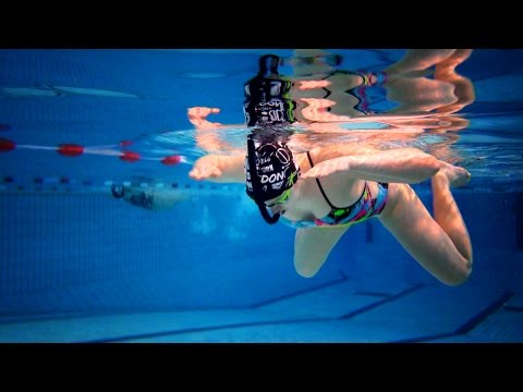 swimming drill - breaststroke - the accordion