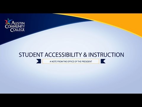 Student Accessibility & Instruction: A Note from the Office of the President