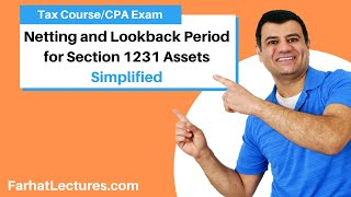 Netting and Lookback Period for Section 1231 Assets   Corporate Income Tax   CPA REG   Ch 14 P 3