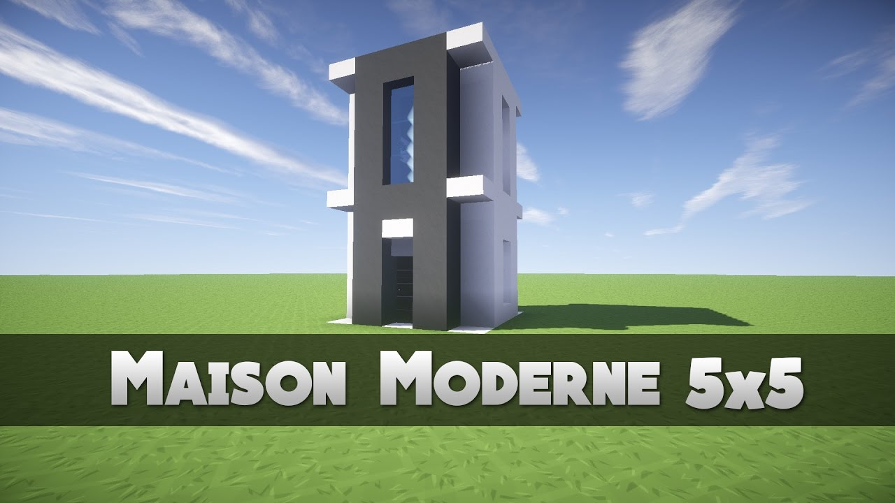 Tuto maison moderne 5x5 minecraft youtube for Tuto maison moderne