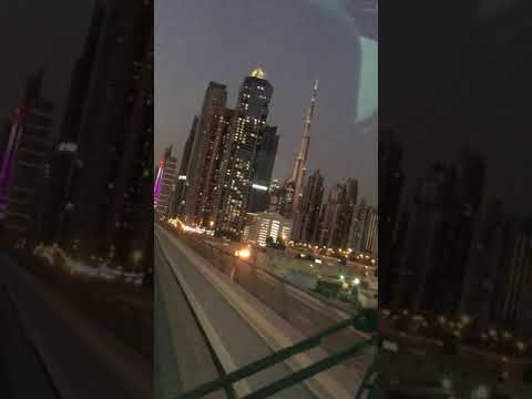 Train ride from emerates mall to Dubai mall /Day off )OFW life in UAE