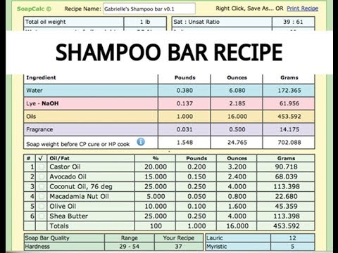 108* Shampoo Bar Recipe - YouTube