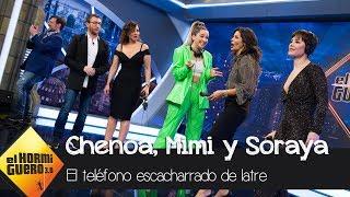 Mimi, Chenoa y Soraya Arnelas juegan al teléfono escacharrado de Carlos Latre - El Hormiguero 3.0