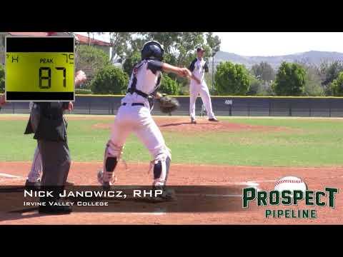 Nick Janowicz Prospect Video, RHP, Irvine Valley College