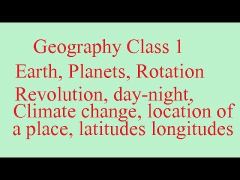 Geography  Class 1