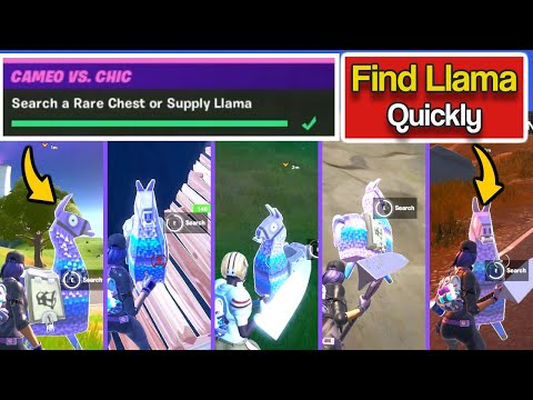 Search A Rare Chest Or Supply Llama - Fortnite Cameo Vs Chic Overtime Challenges - Fortnite Llama