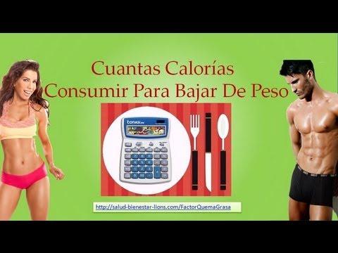 Cuantos calorias debo consumir para bajar de peso