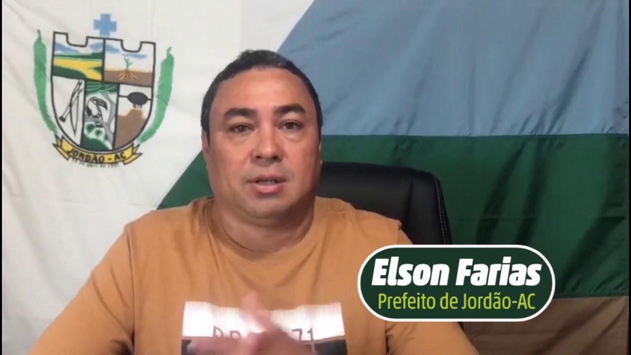 Jordão: 28 anos de emancipação, Prefeito Elson Santiago parabeniza a cidade