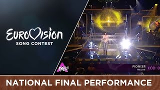 Freddie - Pioneer (Hungary) National Final Performance(Freddie will represent Hungary at the 2016 Eurovision Song Contest in Stockholm with the song Pioneer., 2016-02-27T22:40:59.000Z)
