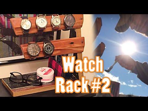 Reclaimed Wood Watch Rack #2