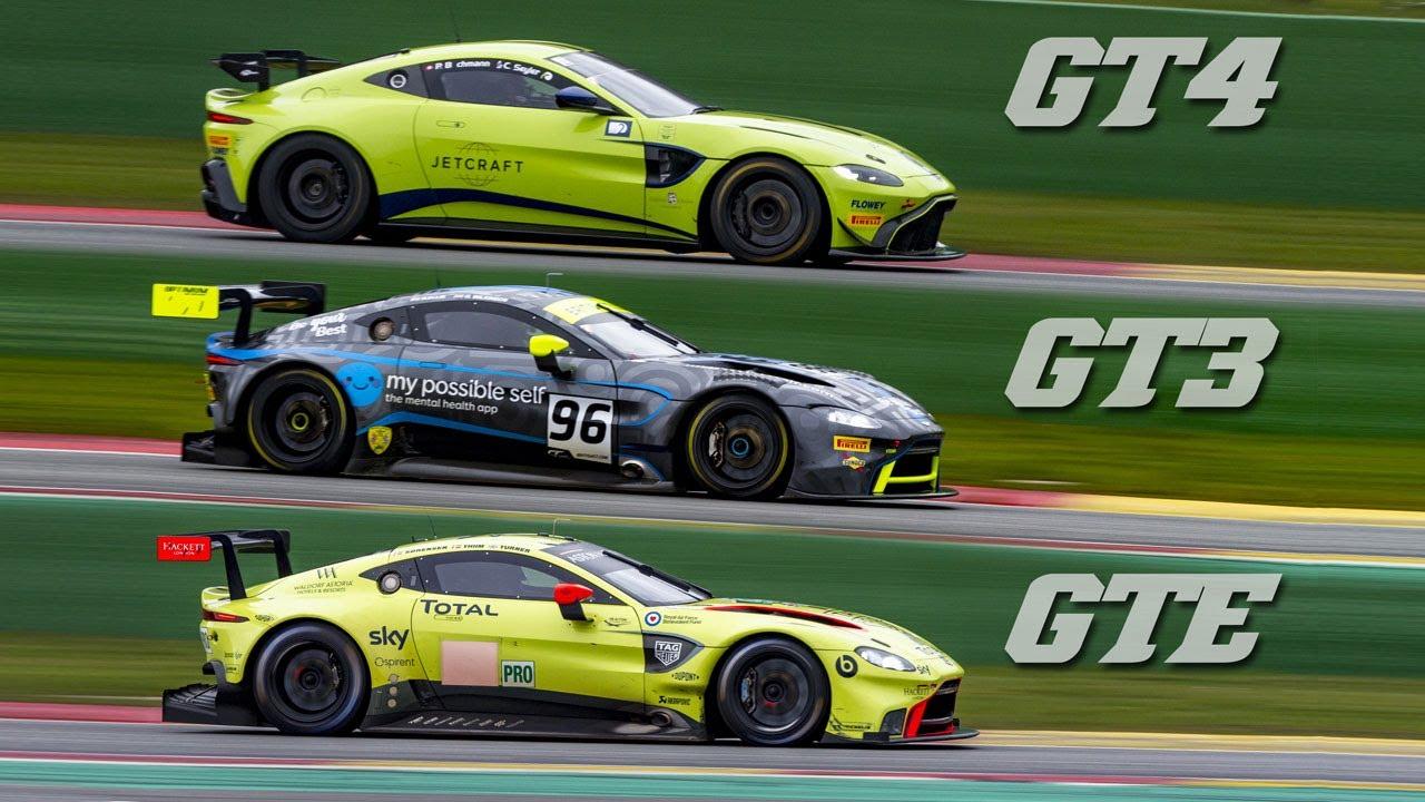 Aston Martin Vantage Amr Gte Vs Gt3 Vs Gt4 Sound Comparison Youtube
