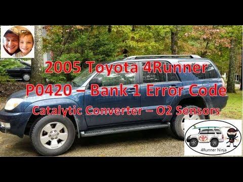 2003 - 2009 Toyota 4Runner V6-2WD P0420 Catalytic Converter O2 Sensor Code